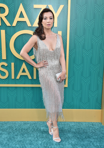 Ming-Na Wen Metallic Clutch [crazy rich asians,crazy rich asiaans,fashion model,flooring,beauty,shoulder,carpet,dress,cocktail dress,gown,fashion,leg,premiere - arrivals,ming-na wen,california,hollywood,warner bros. pictures,tcl chinese theatre imax,premiere]