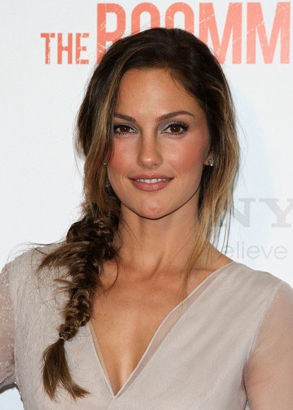 Minka Kelly Long Braided Hairstyle