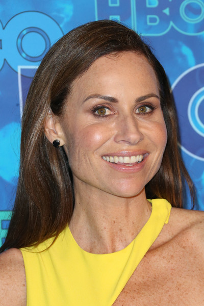 Minnie Driver Long Straight Cut [hair,face,hairstyle,eyebrow,chin,smile,brown hair,neck,long hair,arrivals,minnie driver,emmy,post emmy awards,the plaza,los angeles,california,pacific design center,hbo,reception]