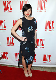 Krysta Rodriguez rocked a flowy, asymmetrical dress with floral designs at Miscast 2013.