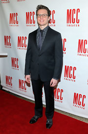 Jonathan Groff looked geeky-chic at Miscast 2013 when he sported a mix-matched patterns, a cool suit, and quirky glasses.