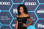 Mishael Morgan Off-the-Shoulder Dress
