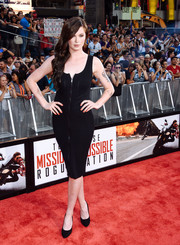 Ireland Baldwin was edgy-sexy in a zip-front LBD during the New York premiere of 'Mission: Impossible - Rogue Nation.'