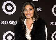 Rachel Roy's lashes and bold eyeliner made quite a statement at the Missoni for Target collection launch. To recreate the look, opt for a dark eyeshadow to heavily line upper and lower lash lines. Next, apply a strip of false lashes along the lash line and finish with a few coats of mascara.