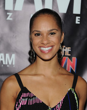 Misty Copeland pulled her hair back into a tight ponytail for her Broadway debut celebration.