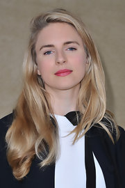 Brit Marling attended the Miu Miu fall 2012 runway show wearing her hair in long straight layers.