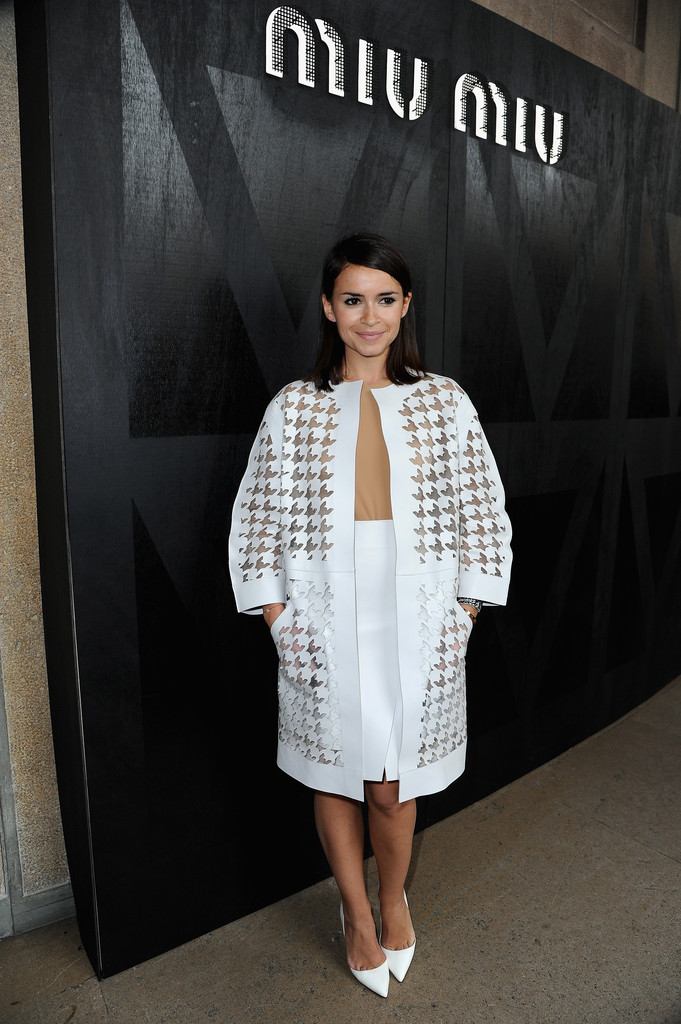 Miroslava Duma attends the Miu Miu Fall/Winter 2013 Ready-to-Wear show as part of Paris Fashion Week on March 6, 2013 in Paris, France.