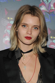 Abbey Lee Kershaw attended the 'Spark & Light' screening wearing an edgy flip hairstyle.