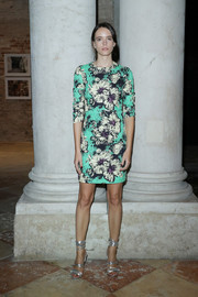 Stacy Martin was all abloom in a floral mini dress by Miu Miu at the 'Women's Tales' dinner.