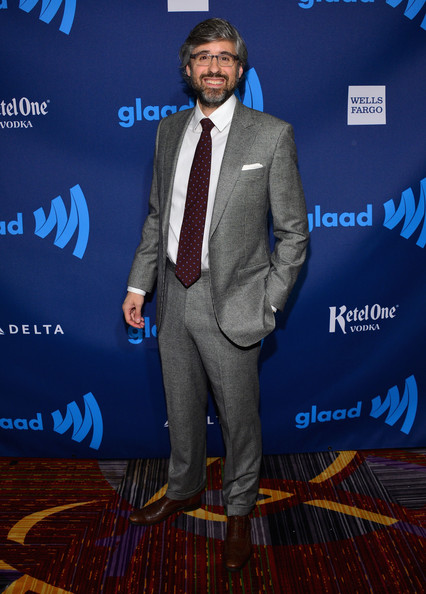 Mo Rocca Men's Suit [suit,premiere,carpet,event,facial hair,formal wear,award,talent show,ketel one,mo rocca,glaad media awards,new york city,red carpet,wells fargo]