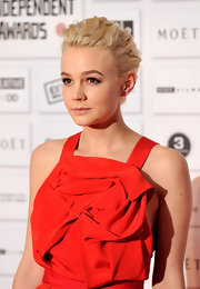 Carey Mulligan showed off her twisted updo while attending the British Independent Film Awards.