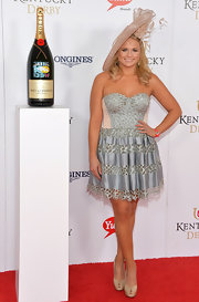 Miranda Lambert looked captivating at the Kentucky Derby Moet & Chandon toast in a slate blue strapless dress with cutout panels.