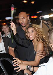 Beyonce wore a lovely lilac polish while attending the launch of Kelly Rowland's album 'Here I Am.'