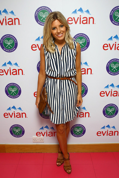 Mollie King Poses For Photos At The Evian Suite - Wimbledon