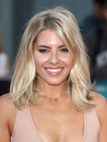 Mollie King Mid-Length Bob [swiss army mam,hair,blond,face,hairstyle,eyebrow,chin,beauty,layered hair,surfer hair,lip,mollie king,empire live,imperium,double bill gala screening,bill gala screening,cineworld 02 arena,england,london,red carpet arrivals]