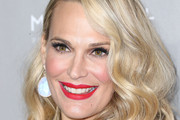 Molly Sims Bright Lipstick
