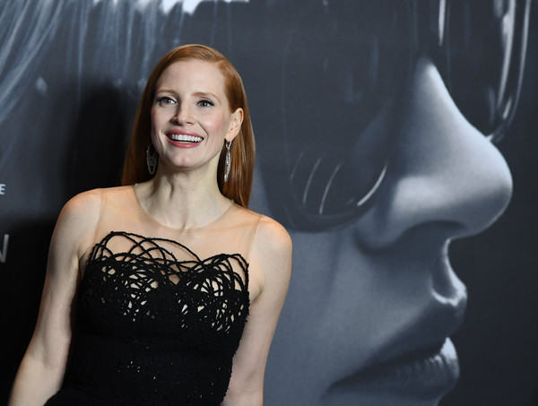 More Pics of Jessica Chastain Cocktail Ring  (1 of 51) - Jessica Chastain Lookbook - StyleBistro [photo,hair,shoulder,beauty,skin,dress,fashion,lip,lady,hairstyle,blond,molly,jessica chastain,angela weiss,new york,amc loews lincoln square,game,afp,premiere,new york premiere]
