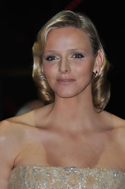 Charlene Wittstock wore her blond bob softly curled under during 2010 Monaco National Day.