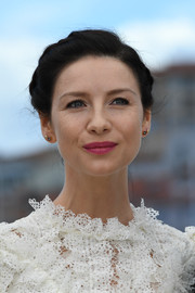 Caitriona Balfe wore a classic braided updo to the Cannes photocall for 'Money Monster.'