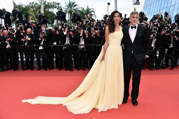 George and Amal Clooney (in Atelier Versace)