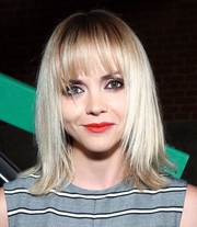 Christina Ricci rocked an edgy layered 'do with wispy bangs at the Monse fashion show.