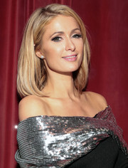 Paris Hilton sported a classic mid-length bob at the Monse launch party.