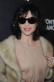 Juliette Binoche exuded French glamor in black butterfly sunglasses at the Montblanc Paris Flagship Boutique launch event.