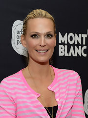 Molly Sims looked fresh and pretty during Montblanc's 24 Hour Plays wearing her hair in a simple ponytail.