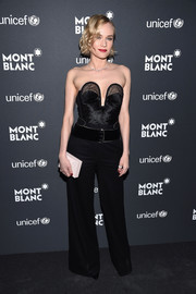 Diane Kruger sizzled in a strapless black corset top by Roberto Cavalli at the Montblanc & UNICEF Gala.