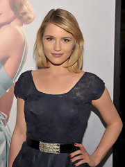 Dianna Agron attended the Montblanc 'Vanity Fair' Party in LA wearing a glossy classic red nail polish.