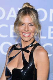 Sienna Miller went for boho glamour with this loose bun at the Monte-Carlo Gala for Planetary Health.