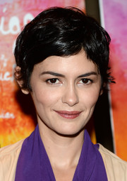 Audrey Tautou looked summery with her pixie cut at the premiere of 'Mood Indigo.'