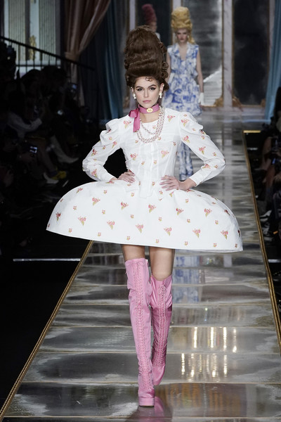 Kaia Gerber's tall pink lace-up boots were equal parts sweet and edgy!