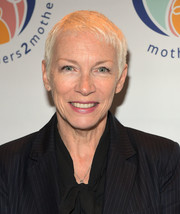 Annie Lennox stuck to her signature pixie at the Mothers2Mothers Fashion Bazaar.