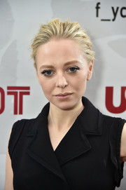 Portia Doubleday brushed her hair back into a loose bun for the 'Mr. Robot' FYC screening.