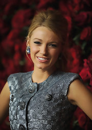 Blake Lively wore her hair in a sexy tousled ponytail at the Museum of Modern Art's 4th Annual Film Benefit.