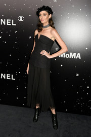 Nicole Trunfio donned a structured strapless top by Chanel for the MoMA Tribute to Martin Scorsese.