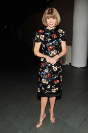 Anna Wintour looked ageless in a floral Chanel Couture frock during the MoMA film benefit.