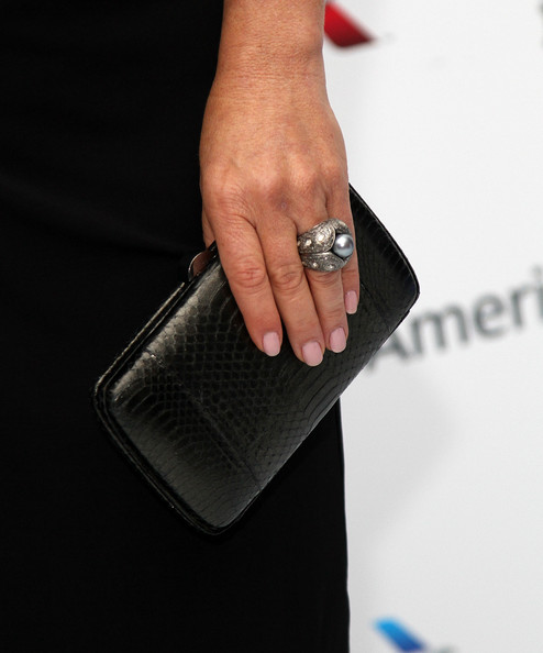 Marcia Gay Harden glammed up her hand with a cocktail ring at the Envision Awards gala dinner.