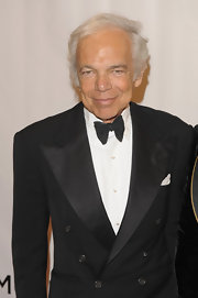 Ralph Lauren showed off his signature combover.