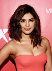 Priyanka Chopra topped off her look with edgy, high-volume waves when she attended the MusiCares Person of the Year Gala.