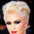 Gwen Stefani's Metallic, Blue-Red Lipstick