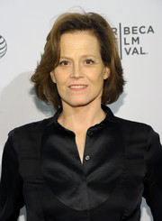 Sigourney Weaver sported a feathered bob at the Tribeca Film Festival premiere of 'My Depression: The Up and Down and Up of It.'