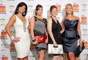 Caroline Manzo's white and silver zebra-print purse at the 'My Big Gay Italian Wedding' was more elegant than wild.