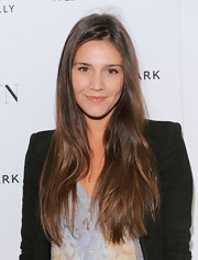 Margherita Missoni left her long hair loose with a side part at the premiere of 'My Week with Marilyn.'
