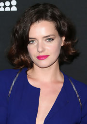 Roxane Mesquida chose a wavy 'do to show off her thick brunette tresses.