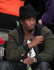 Sean Combs spiced up his ensemble with a black fedora at the NBA All-Star Saturday Night.