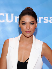Jessica Szohr kept it classic and elegant with this slicked-back bun at the NBC New York Summer Press Day.