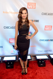 Torrey Devitto was sexy-chic in a sheer-panel LBD at the premiere of 'Chicago Fire,' Chicago P.D.,' and 'Chicago Med.'