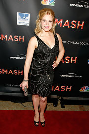 Megan Hilty dazzled in a black cocktail dress at the 'Smash' premiere in NYC.